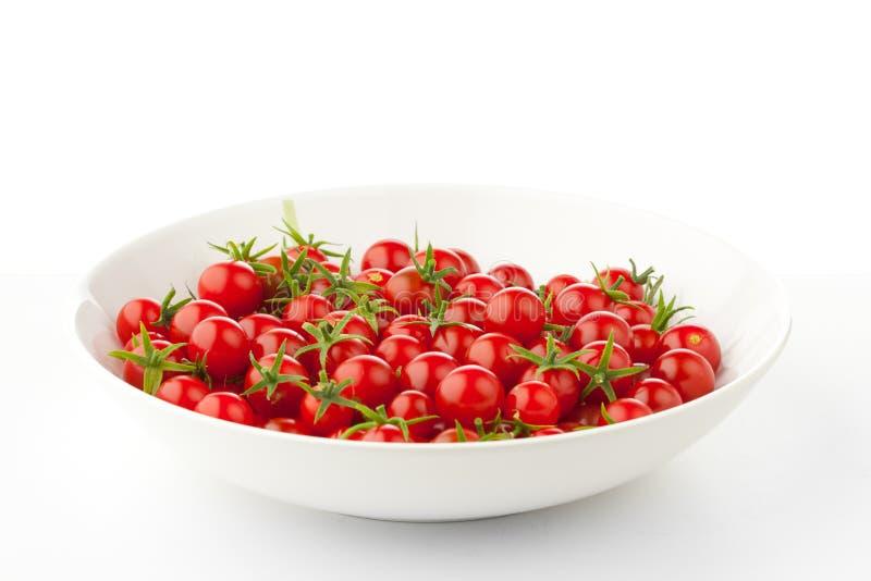 Πιάτο με τις ντομάτες κερασιών στοκ φωτογραφίες με δικαίωμα ελεύθερης χρήσης