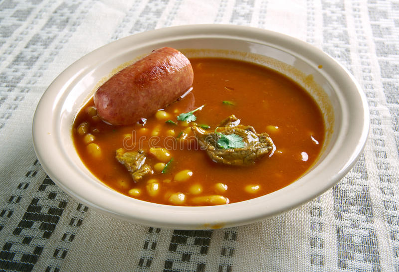 Πιάτο ν φασολιών Pasulj, στοκ εικόνες