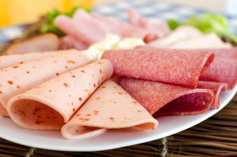 Πιάτο λουκάνικων στοκ εικόνα με δικαίωμα ελεύθερης χρήσης