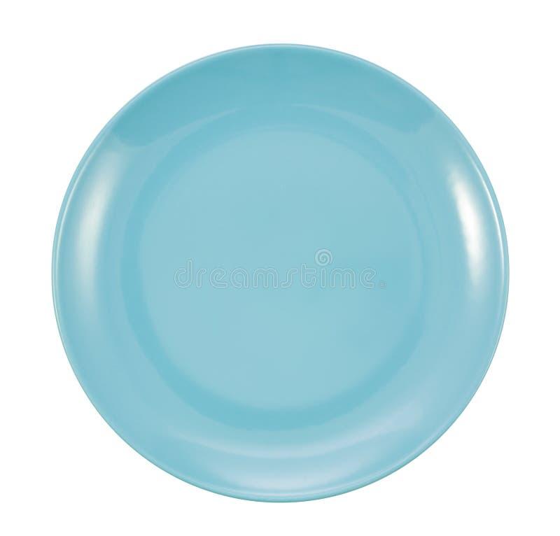 Πιάτο που απομονώνεται μπλε στοκ φωτογραφία με δικαίωμα ελεύθερης χρήσης