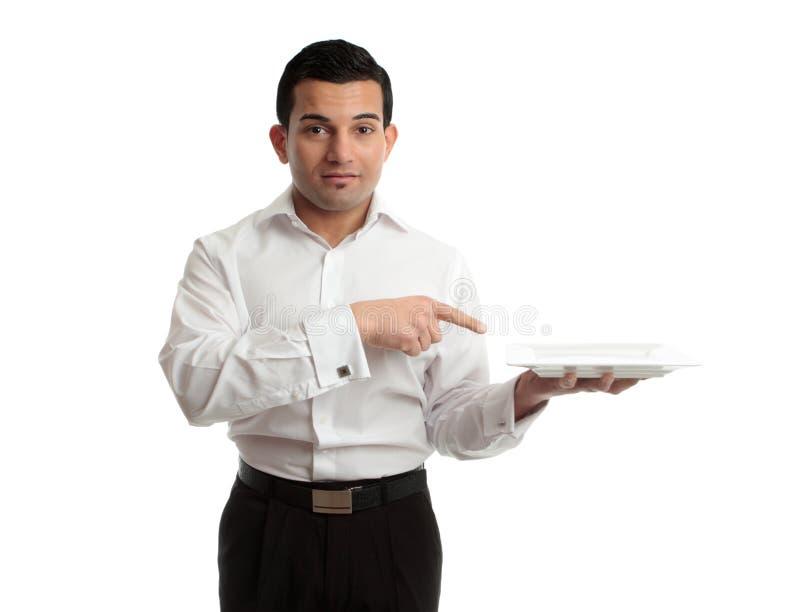 πιάτο που δείχνει το σερ&be στοκ φωτογραφία με δικαίωμα ελεύθερης χρήσης