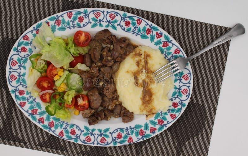 Πιάτο που συνδυάζεται με το κρέας στοκ φωτογραφίες με δικαίωμα ελεύθερης χρήσης