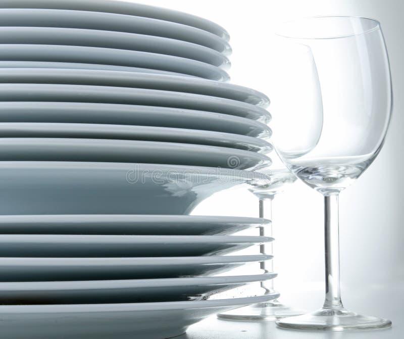 πιάτο σωρών γυαλιού στοκ φωτογραφία με δικαίωμα ελεύθερης χρήσης