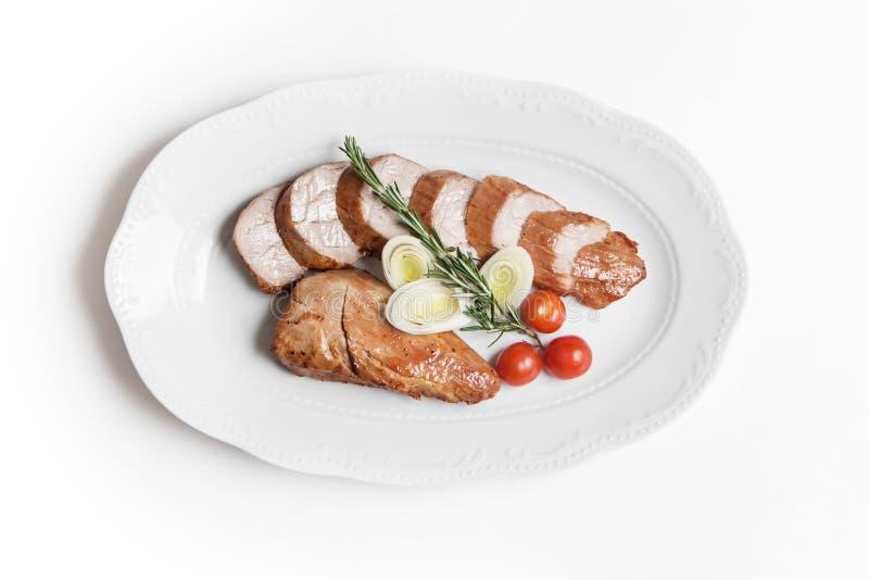 Πιάτο του χοιρινού κρέατος στοκ φωτογραφία