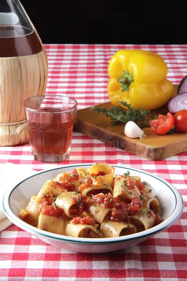 Πιάτο των ζυμαρικών στοκ εικόνες