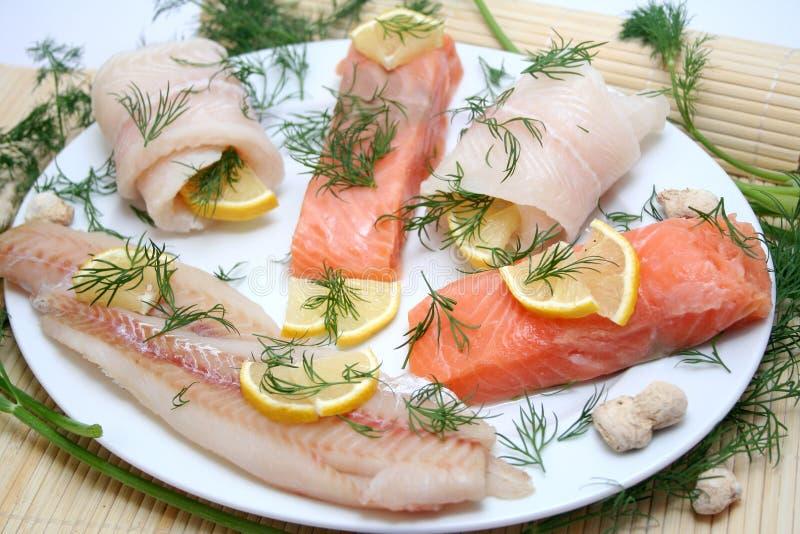 Πιάτο ψαριών στοκ φωτογραφίες