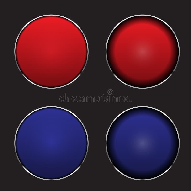 Πιέστε τη διανυσματική απεικόνιση κουμπιών διανυσματική απεικόνιση
