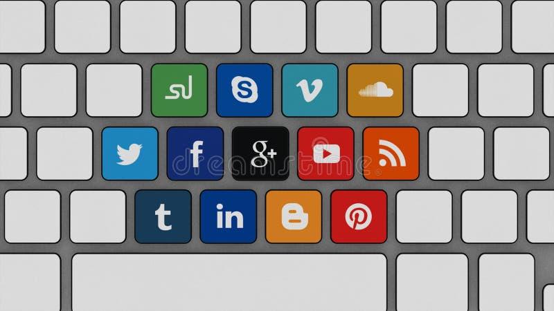 Πιέστε τις κοινωνικές περιοχές μέσων σας διανυσματική απεικόνιση
