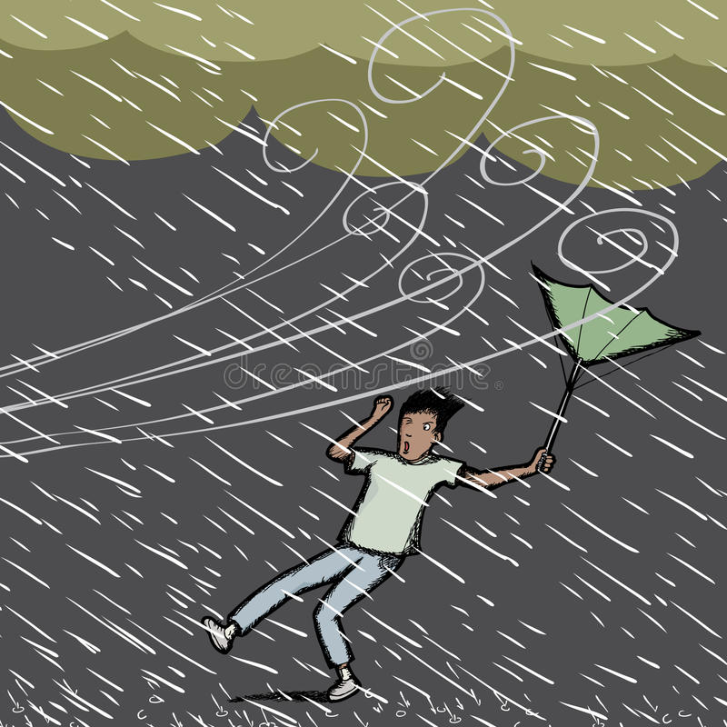 πιασμένη βροχή διανυσματική απεικόνιση