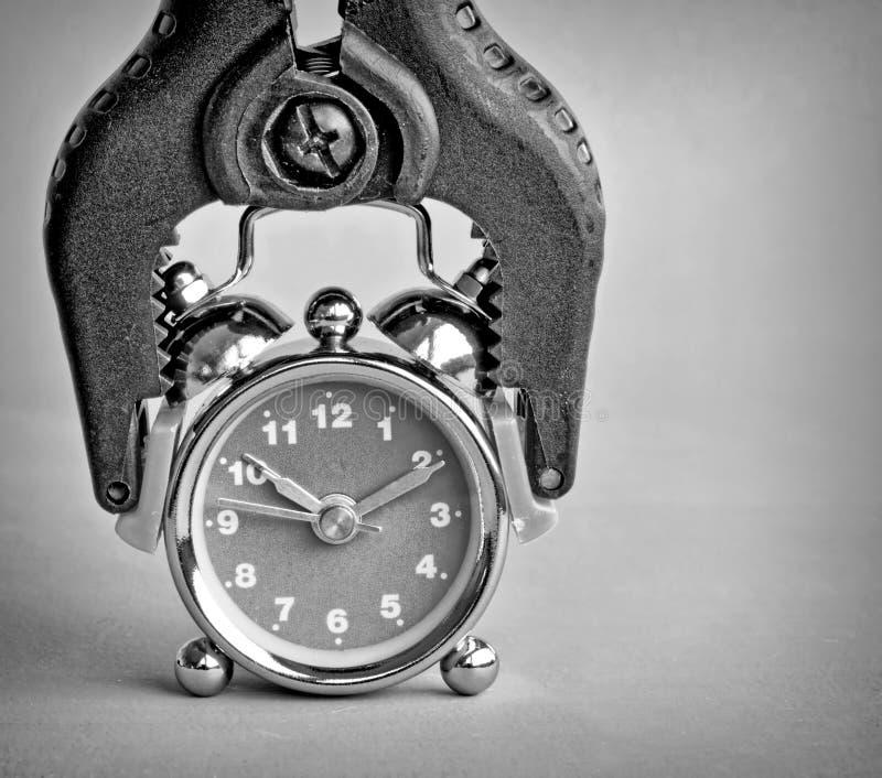 Πιασμένο ρολόι στοκ φωτογραφίες
