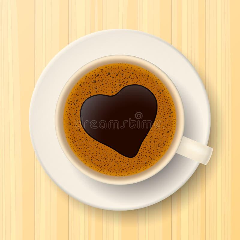 πιατάκι φλυτζανιών καφέ ελεύθερη απεικόνιση δικαιώματος