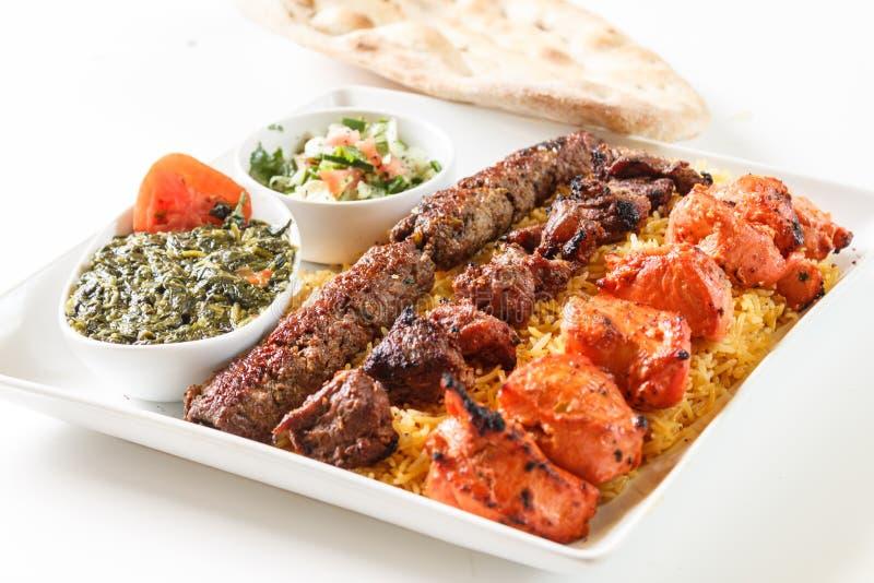 Πιατέλα γευμάτων Kabob στοκ φωτογραφία
