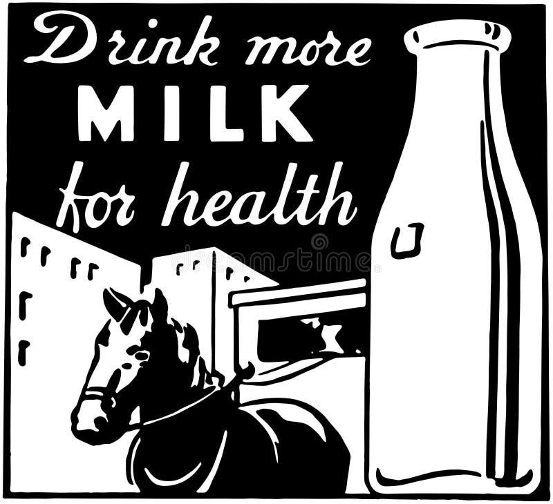 Πιείτε περισσότερο γάλα απεικόνιση αποθεμάτων