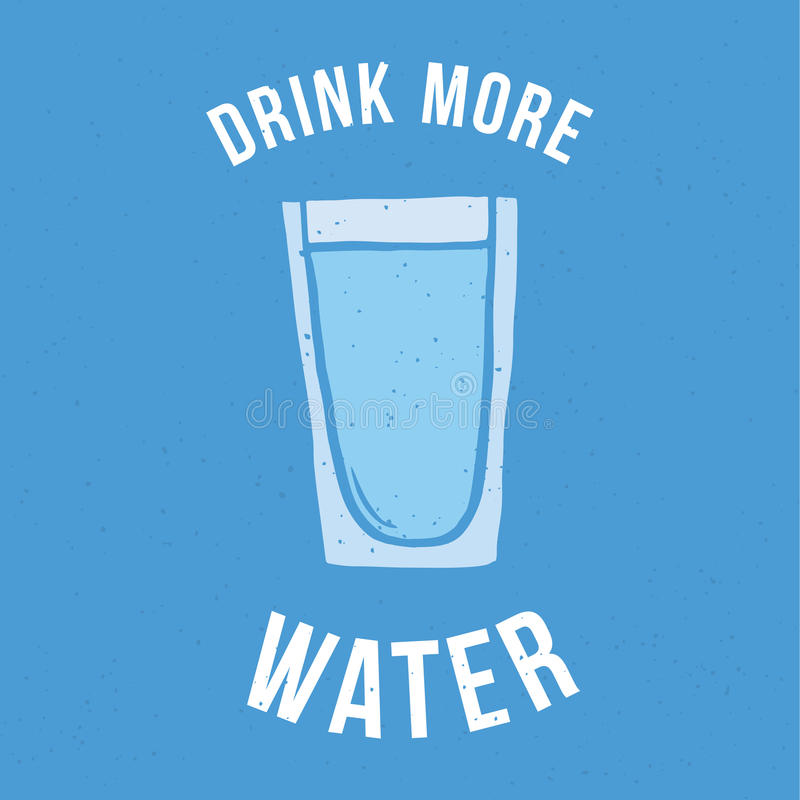 Πιείτε περισσότερο νερό στοκ εικόνα