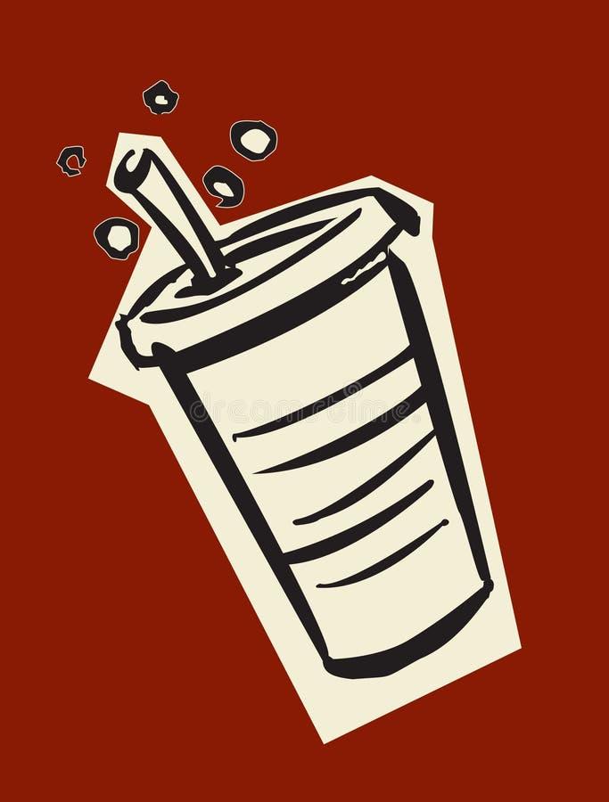 πιείτε τη σόδα ελεύθερη απεικόνιση δικαιώματος