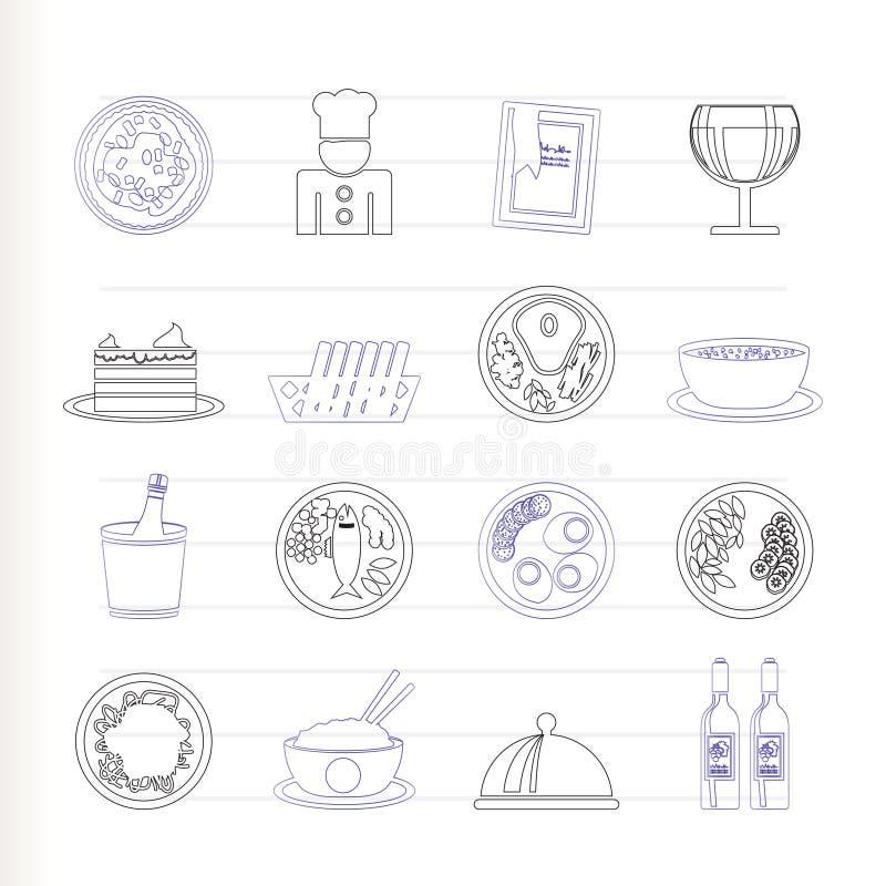 πιείτε το εστιατόριο ει&kap διανυσματική απεικόνιση