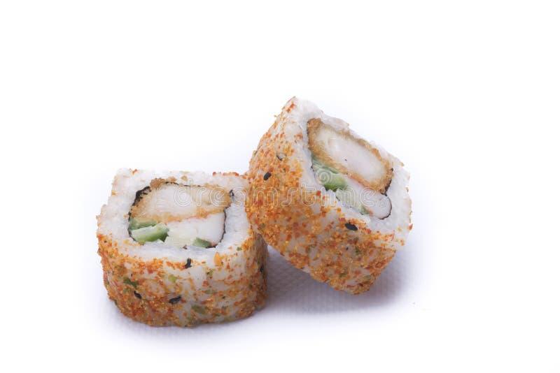Πικάντικα σούσια maki ebi στοκ φωτογραφία με δικαίωμα ελεύθερης χρήσης