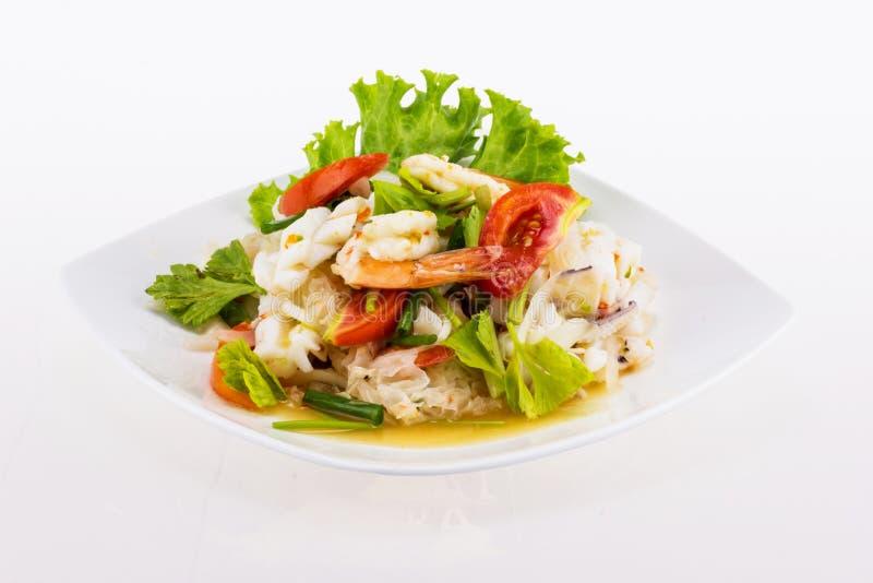 Πικάντικα τρόφιμα σαλάτας θαλασσινών στοκ εικόνες