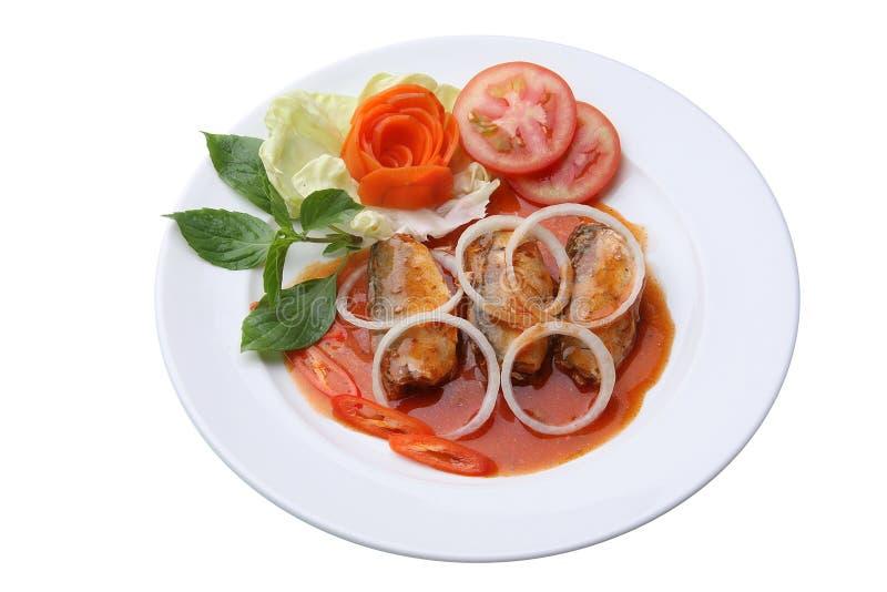 Πικάντικες κονσερβοποιημένες ψάρια σαρδέλλες στοκ φωτογραφία με δικαίωμα ελεύθερης χρήσης