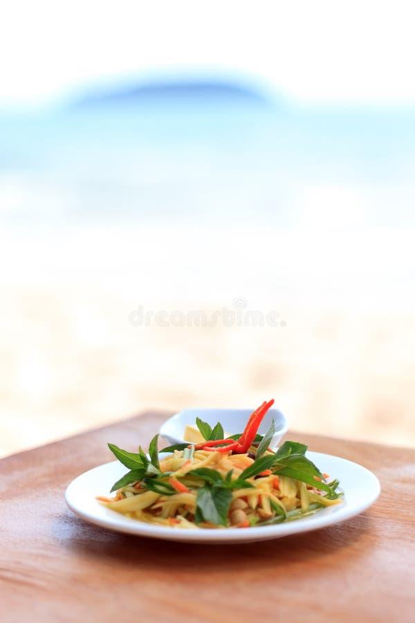 Πικάντικη πράσινη σαλάτα μάγκο στοκ φωτογραφία με δικαίωμα ελεύθερης χρήσης