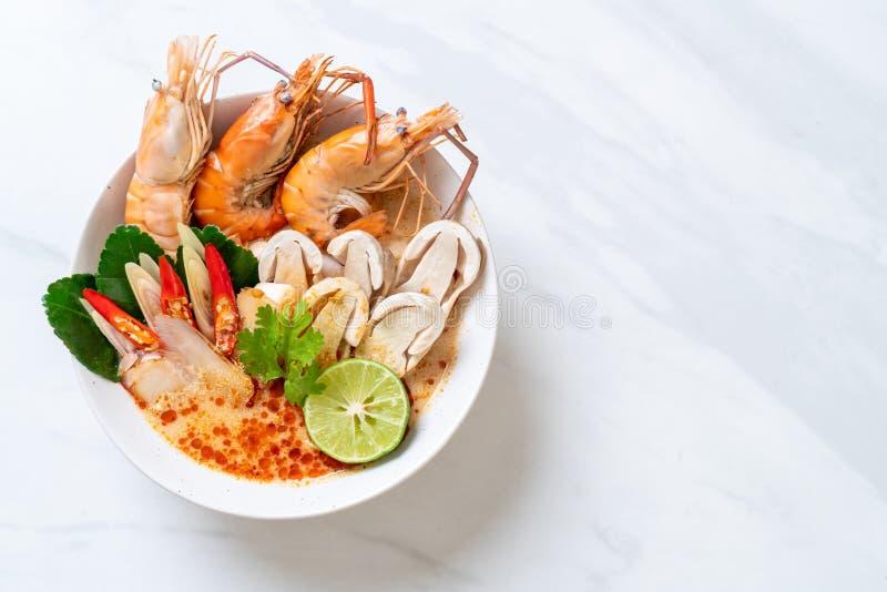 πικάντικη σούπα γαρίδων (Tom Yum Goong στοκ φωτογραφία με δικαίωμα ελεύθερης χρήσης