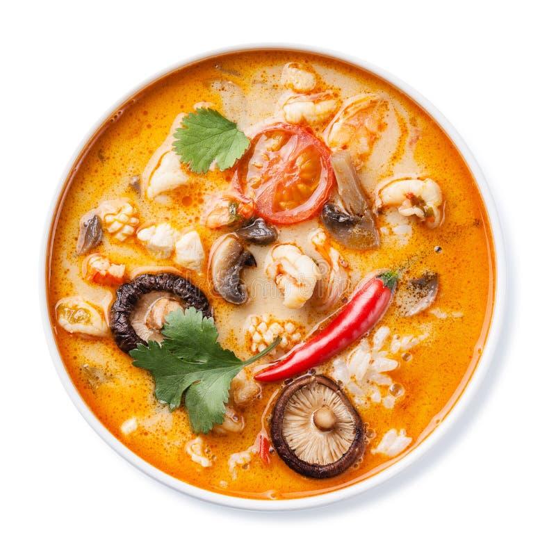 Πικάντικη ταϊλανδική διοσκορέα του Tom σούπας στοκ φωτογραφία