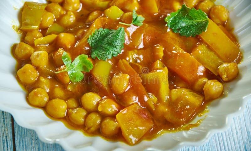 Πικάντικη φακή, Chickpea Stew στοκ εικόνα με δικαίωμα ελεύθερης χρήσης