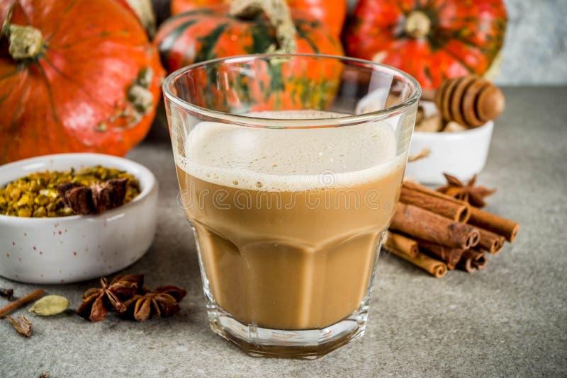 Πικάντικος καφές κολοκύθας latte στοκ εικόνες με δικαίωμα ελεύθερης χρήσης