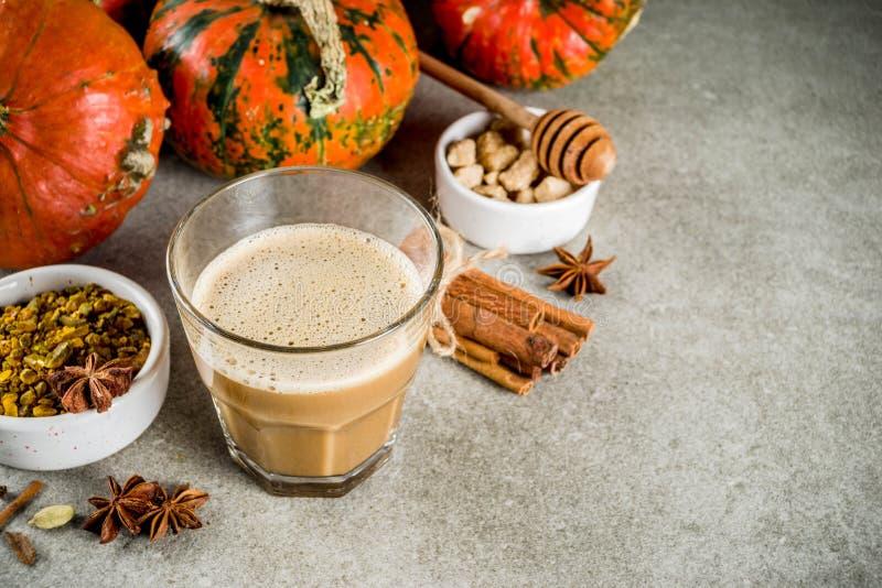 Πικάντικος καφές κολοκύθας latte στοκ εικόνα με δικαίωμα ελεύθερης χρήσης