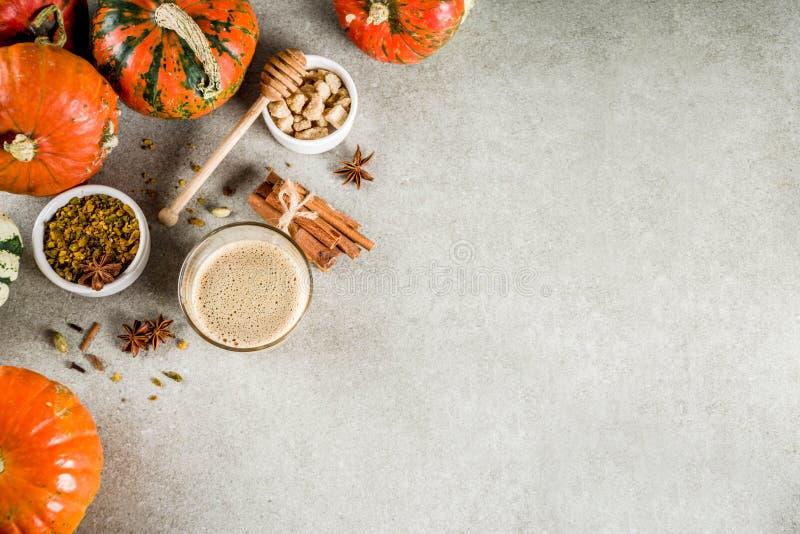 Πικάντικος καφές κολοκύθας latte στοκ εικόνες
