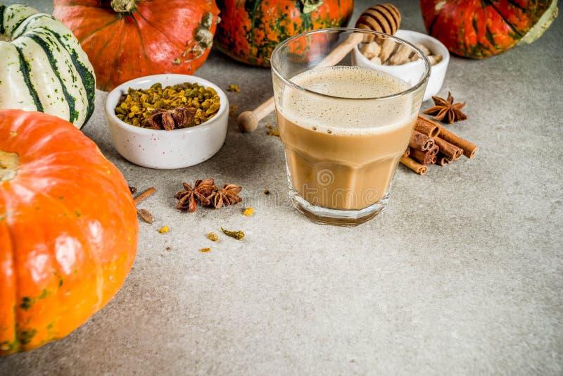 Πικάντικος καφές κολοκύθας latte στοκ φωτογραφία με δικαίωμα ελεύθερης χρήσης