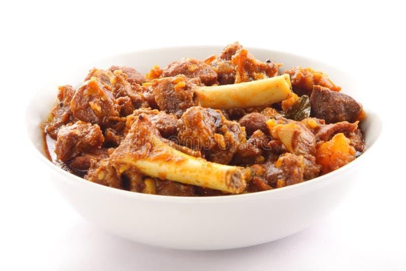 Πικάντικο πιάτο κάρρυ πρόβειων κρεάτων από την ινδική κουζίνα, στοκ εικόνες