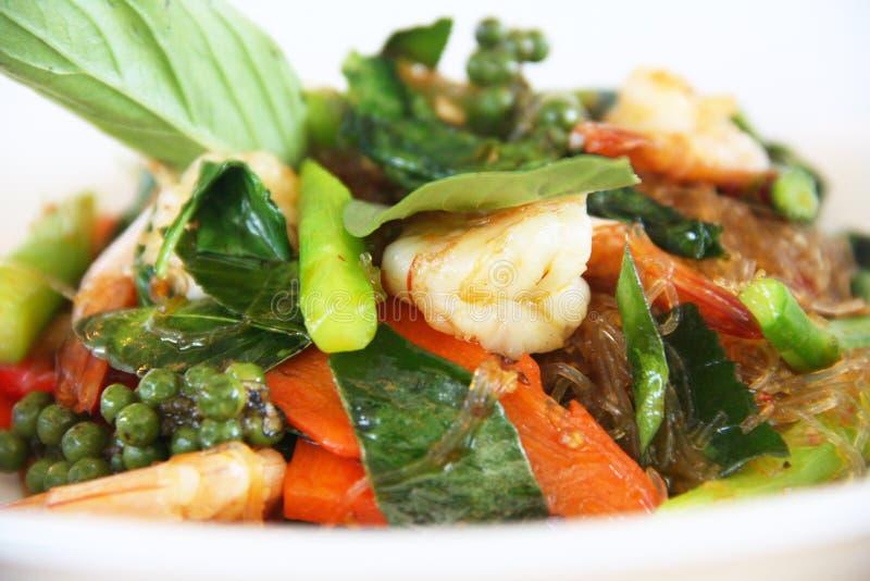 Πικάντικο vermicelli με τα θαλασσινά στοκ εικόνα με δικαίωμα ελεύθερης χρήσης