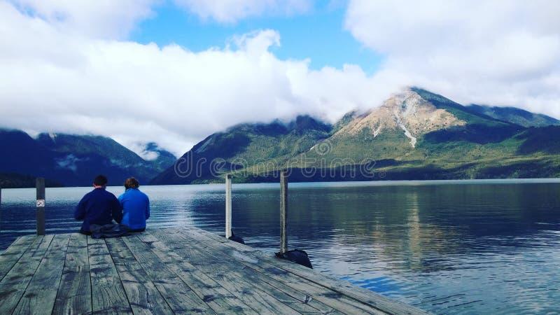 Πικ-νίκ στο εθνικό πάρκο λιμνών του Nelson στοκ εικόνα