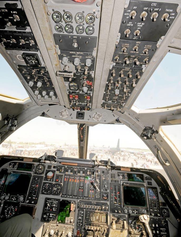 πιλοτήριο βομβαρδιστικώ στοκ φωτογραφίες