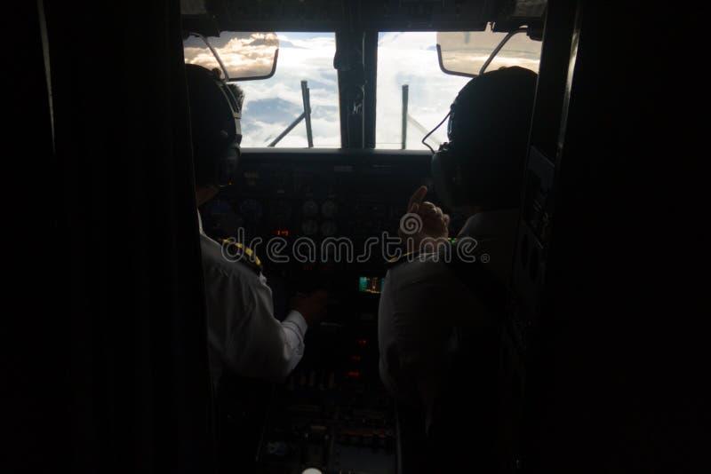 Πιλοτήριο ενός αεροπλάνου σε Lukla, έναρξη του οδοιπορικού στρατόπεδων βάσεων Everest, Κατμαντού, Νεπάλ στοκ εικόνες με δικαίωμα ελεύθερης χρήσης