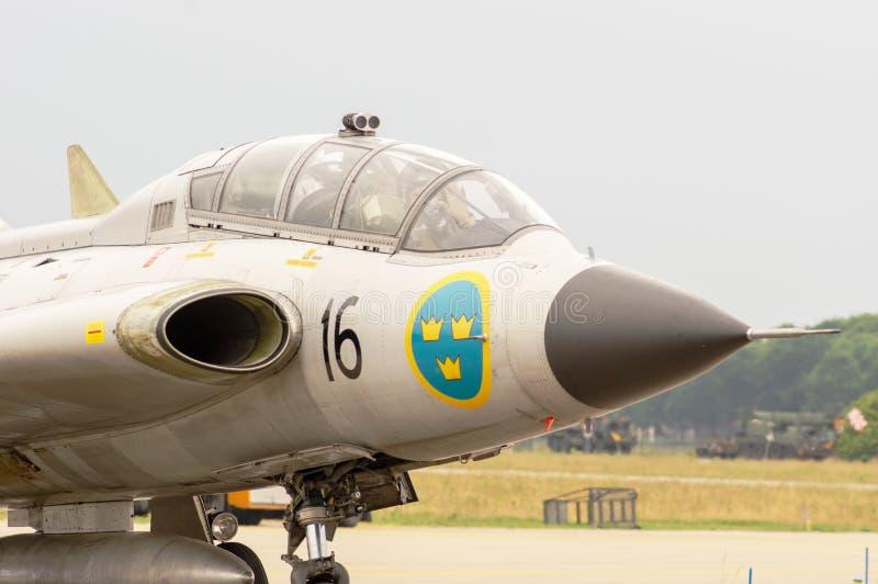 Πιλοτήριο πολεμικό τζετ με πειραματικό στοκ εικόνες με δικαίωμα ελεύθερης χρήσης