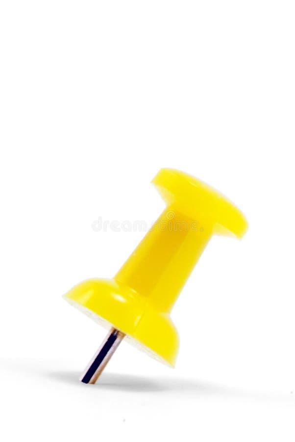 πινέζα κίτρινη στοκ φωτογραφία με δικαίωμα ελεύθερης χρήσης