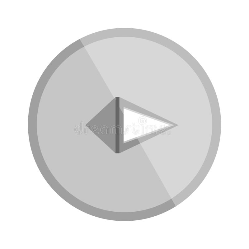 Πινέζα μετάλλων, που σύρει την καρφίτσα, καρφί, διανυσματική απεικόνιση