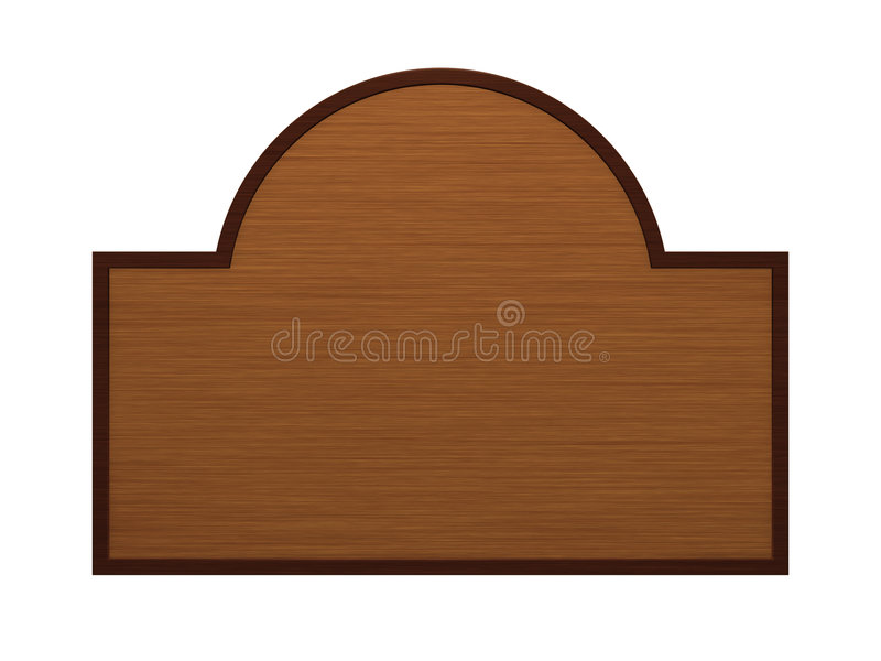 πινακίδα ξύλινη διανυσματική απεικόνιση