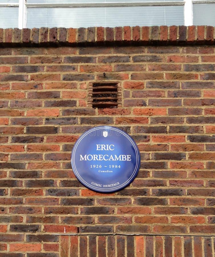Πινακίδα του Eric Morecambe στοκ φωτογραφία με δικαίωμα ελεύθερης χρήσης
