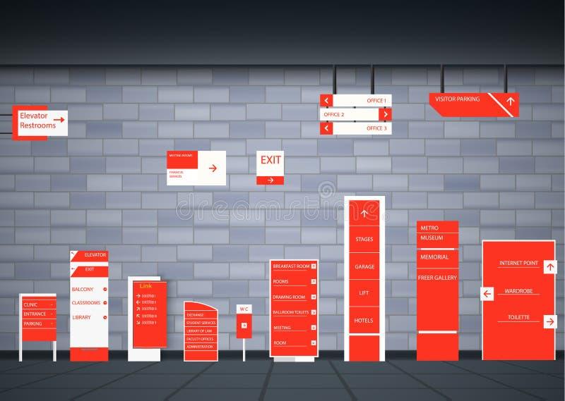 Πινακίδες για την επιχείρηση ελεύθερη απεικόνιση δικαιώματος