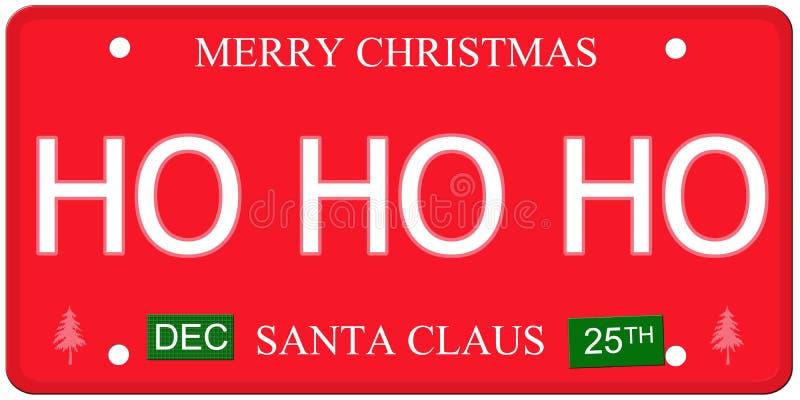 Πινακίδα αριθμού κυκλοφορίας Ho Ho Ho διανυσματική απεικόνιση