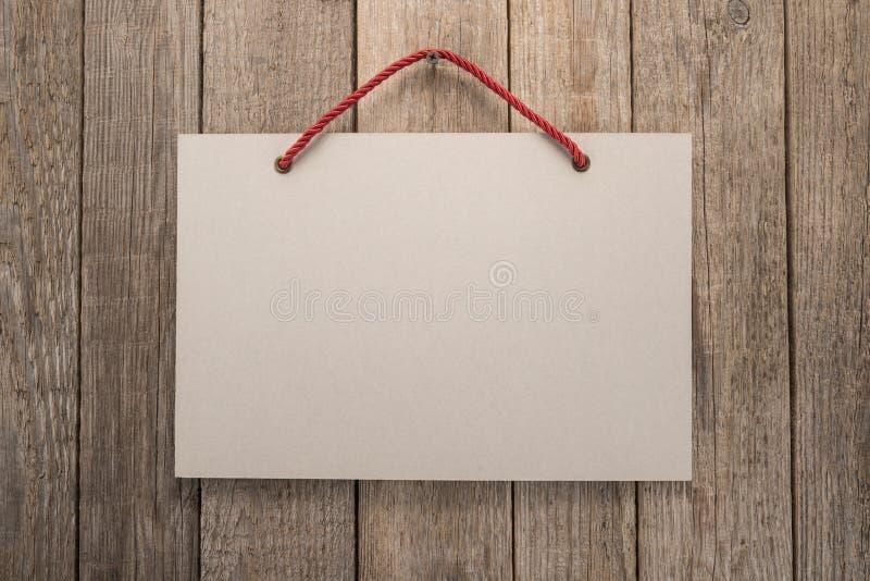Πινακίδα με το σχοινί στοκ φωτογραφίες