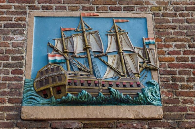 Πινακίδα μιας βάρκας στοκ εικόνα