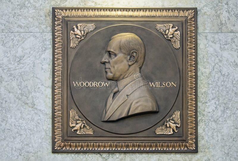 Πινακίδα του Wilson Woodrow στοκ εικόνα με δικαίωμα ελεύθερης χρήσης