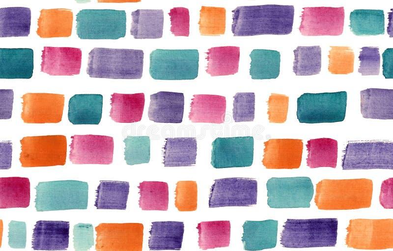 Πινελιές με αφηρημένο χρώμα νερού σχεδιασμένες με το χέρι σε διαφορετικά χρώματα στοκ εικόνα