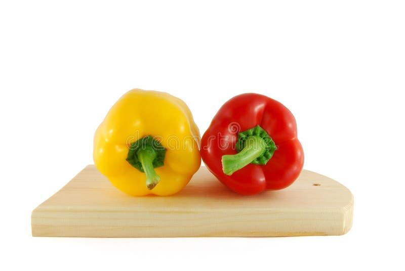 πιπέρια δύο χαρτονιών στοκ φωτογραφίες