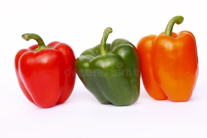 πιπέρια κουδουνιών τρία στοκ φωτογραφίες με δικαίωμα ελεύθερης χρήσης