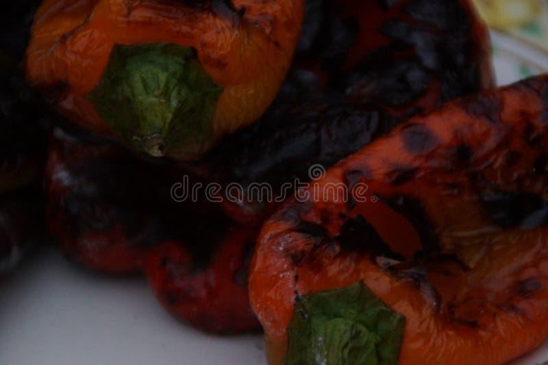 Πιπέρια που μαγειρεύονται γλυκά με τη σχάρα στοκ εικόνες με δικαίωμα ελεύθερης χρήσης